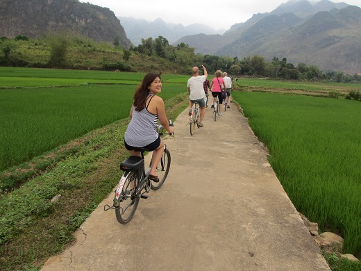 Cycling at Mai Chau