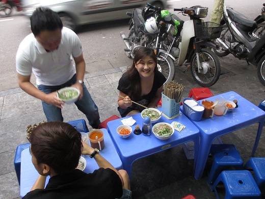 Eating Pho on the Side Streets of Hanoi